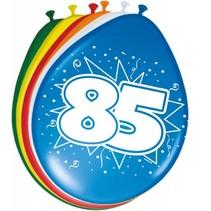 Ballonnen 85 Jaar 30cm 8 stuks