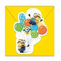 Minions Uitnodigingen Versiering 6 stuks
