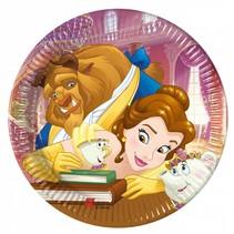Belle en het Beest Gebaksbordjes 20cm 8 stuks