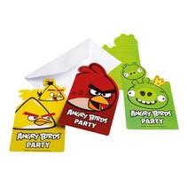 Angry Birds Uitnodigingen Versiering 6 stuks