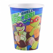 Ninja Turtles Bekers Half Shell Heroes 266ml 8 stuks