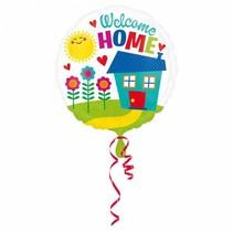 Helium Ballon Welkom Thuis Huis 43cm leeg