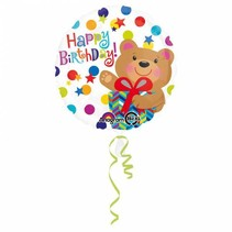 Helium Ballon Happy Birthday Beer 43cm leeg of gevuld
