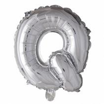 Folie Ballon Letter Q Zilver 102cm leeg of gevuld