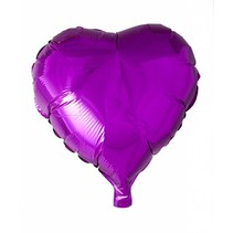 Helium Ballon Hart Fuchsia 46cm leeg of gevuld