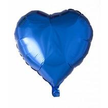 Helium Ballon Hart Blauw 46cm leeg of gevuld