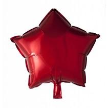Helium Ballon Ster Rood 46cm leeg of gevuld