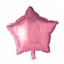 Helium Ballon Ster Lichtroze 46cm leeg of gevuld