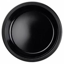 Zwarte Borden Plastic 23cm 10 stuks