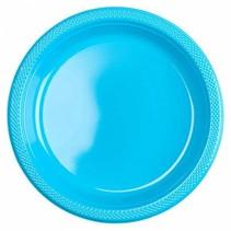 Lichtblauw Borden Plastic 23cm 8 stuks