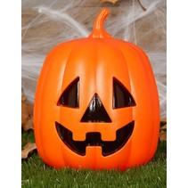 Halloween Pompoen met licht 27cm