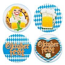 Oktoberfest Buttons 5cm 4 stuks