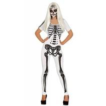Halloween Kostuum Dames Skelet Wit