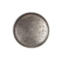 Gietijzeren kastdeurknop 34mm - blank gelakt