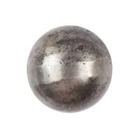 Gietijzeren kastdeurknop 26mm - blank gelakt