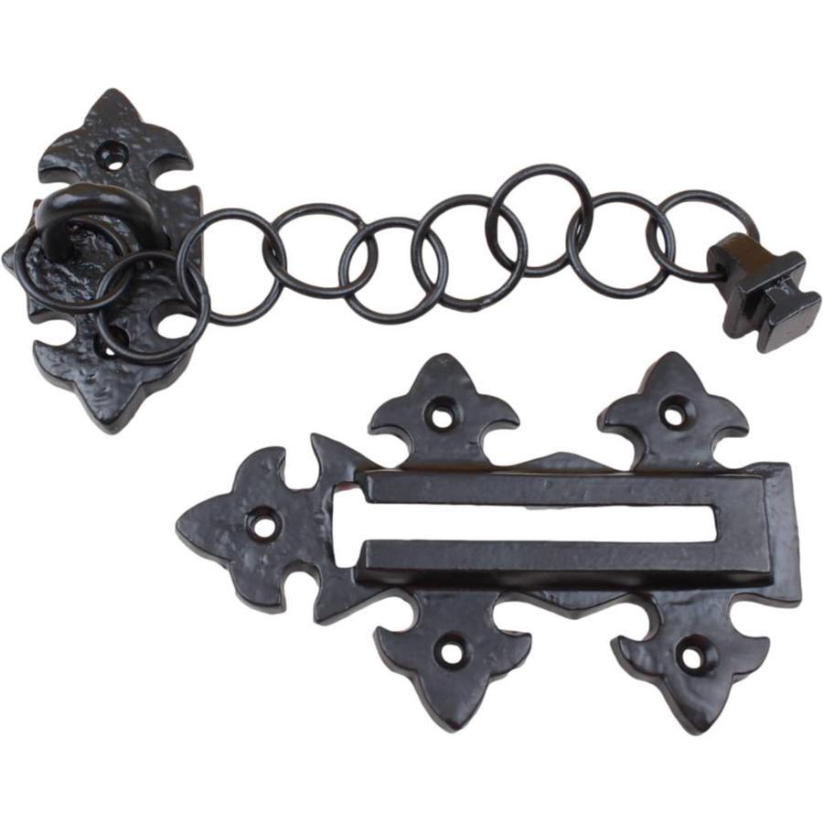 Gietijzeren deurketting - zwart gelakt