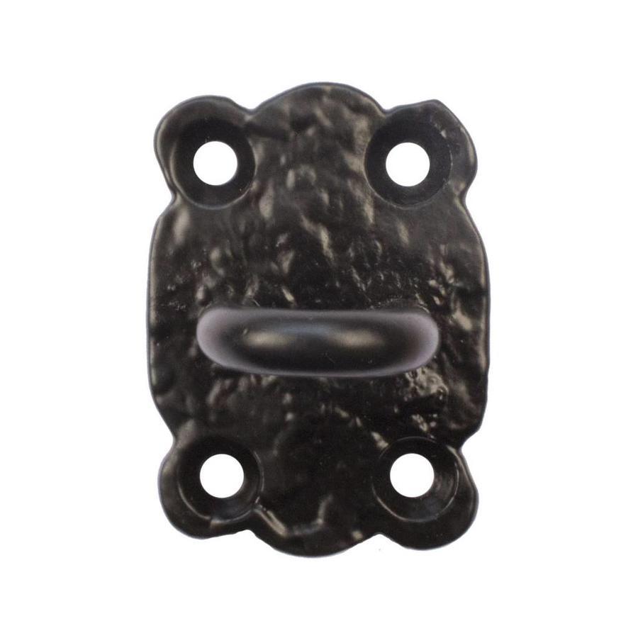 Gietijzeren deurhaak zwart gelakt 133mm