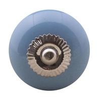 Porseleinen meubelknop blauw