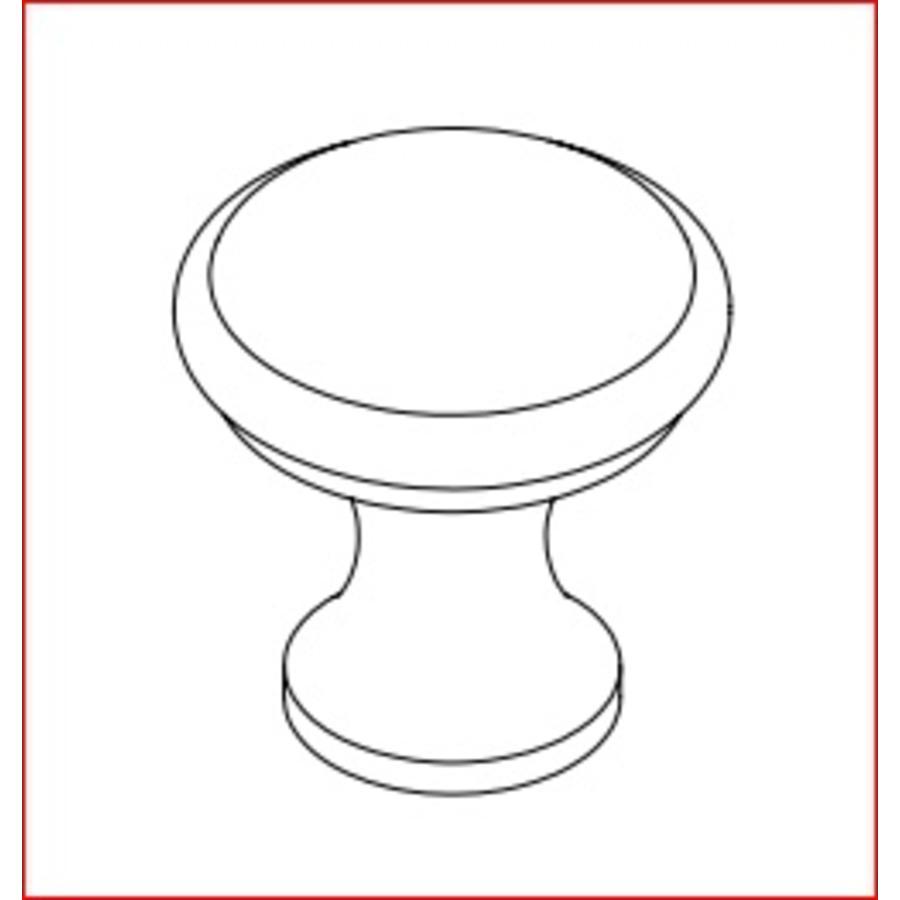 Handgesmede kastdeurknop 20mm - pewter finish