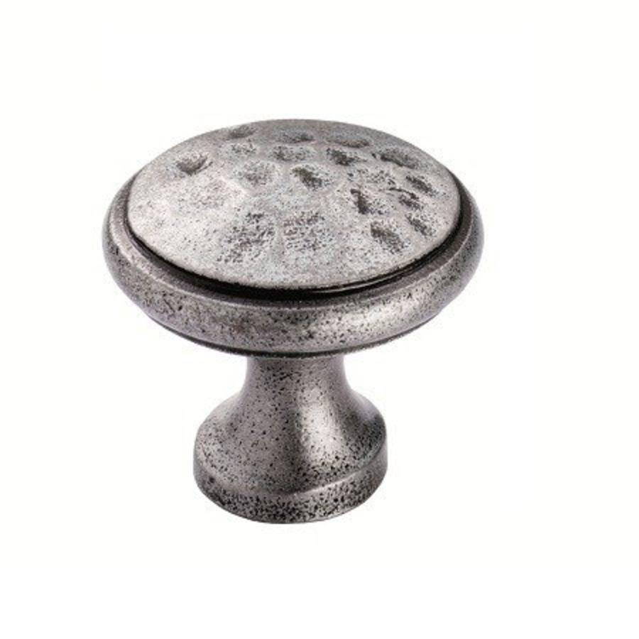 Gietijzeren kastdeurknop 30mm - pewter finish