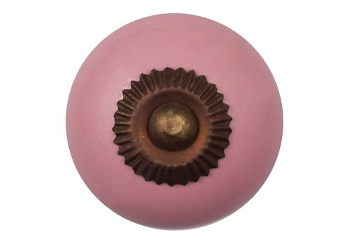 Meubelknop roze - brons
