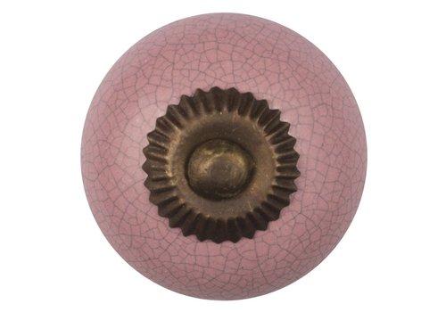 Meubelknop roze gekrakeleerd - fijn