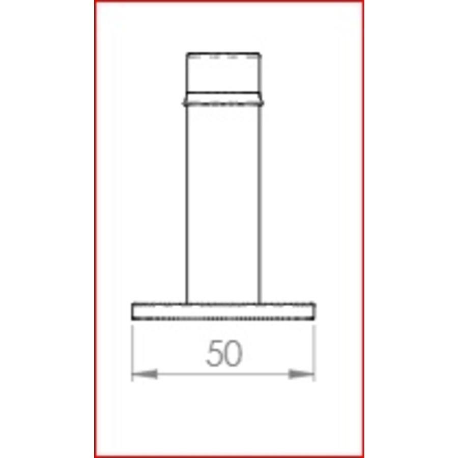 Deurstopper 73mm - zwart gelakt - Ludlow Foundries