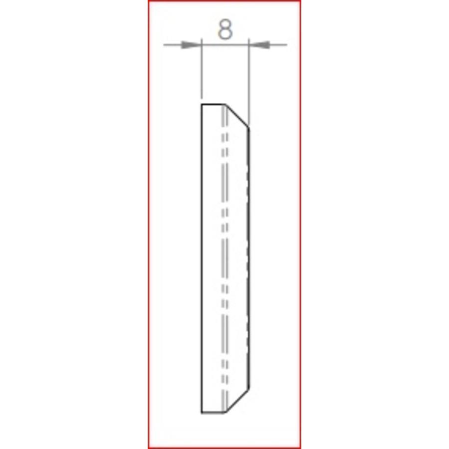 Gietijzeren sleutelplaat eurocylinder rond