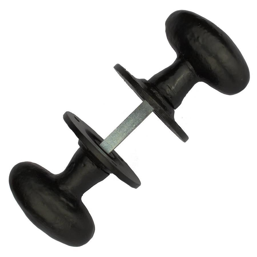Gietijzeren deurknop ovaal - G0317