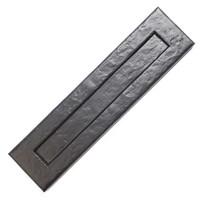 Gietijzeren brievenbusplaat - zwart gelakt