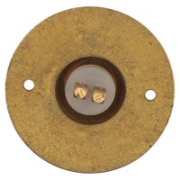 Messing deurbelknop Press