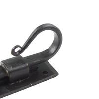 Smeedijzeren deurgrendel haak gebogen 154mm