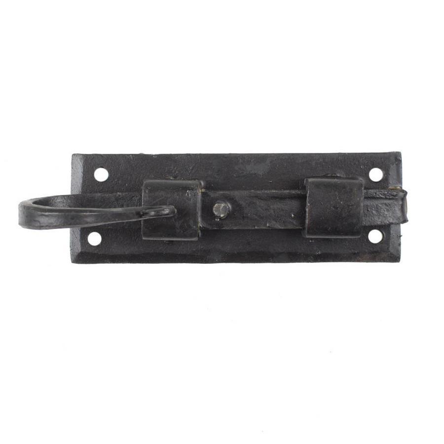 Smeedijzeren deurgrendel haak recht 123mm