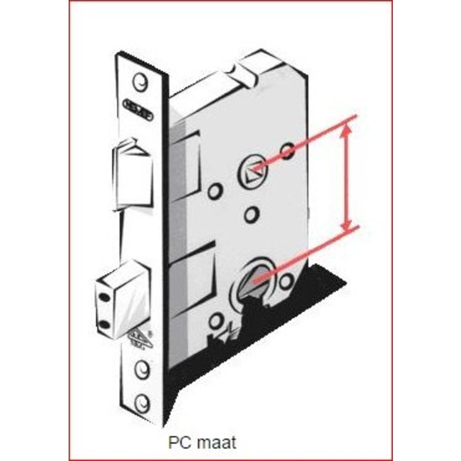 Gietijzeren deurkruk op schild gekarteld - vrij/bezet