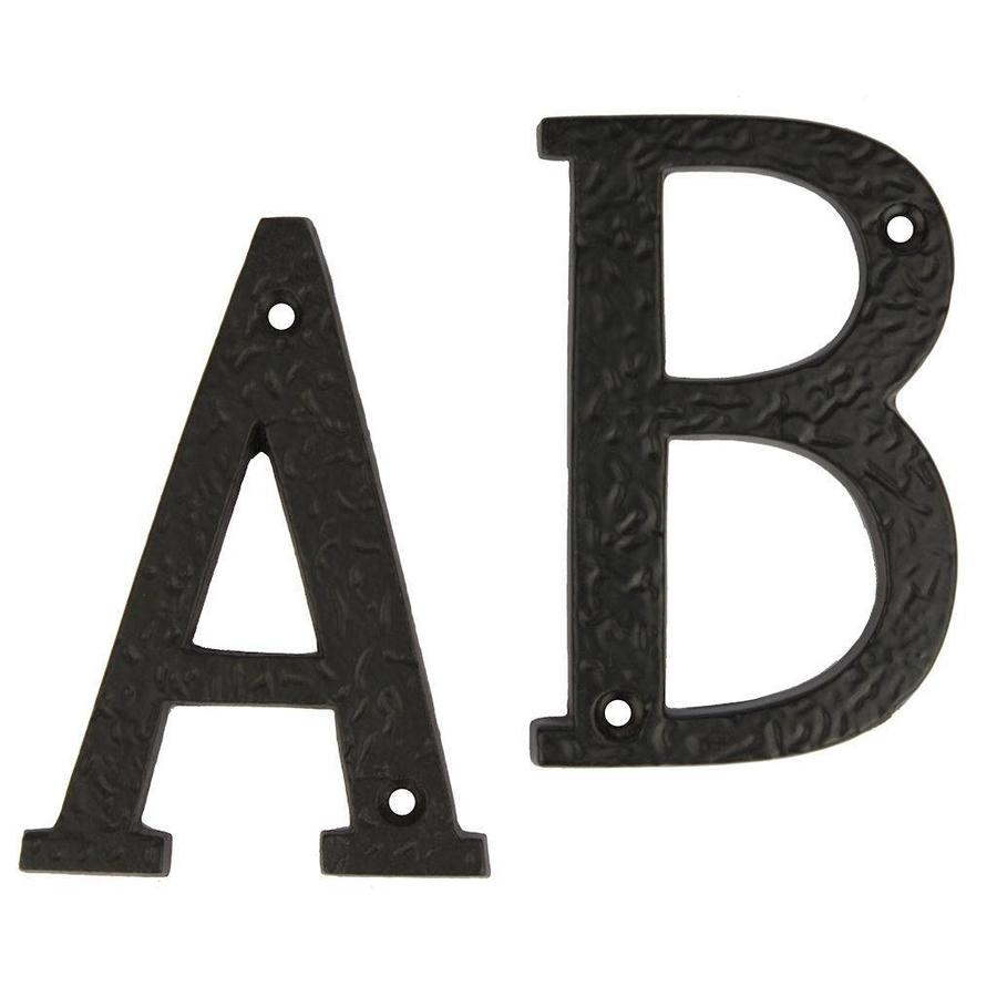 Gietijzeren huisnummer toevoegingen A-B