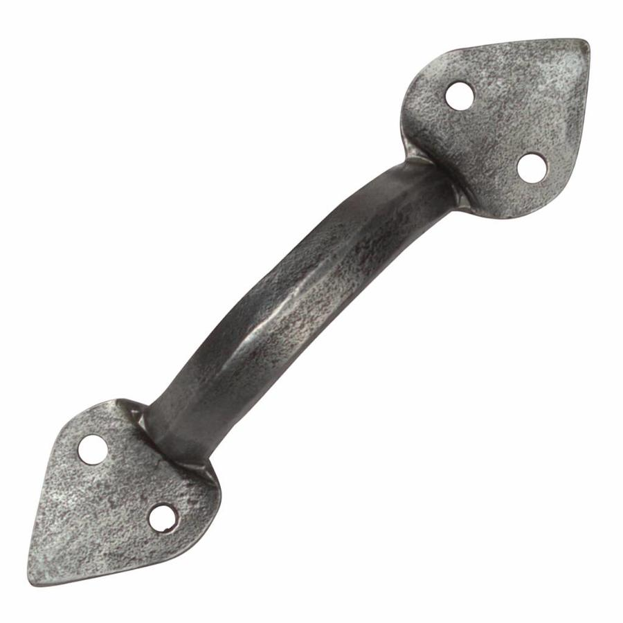 Smeedijzeren handgreep punt 105mm - Pewter