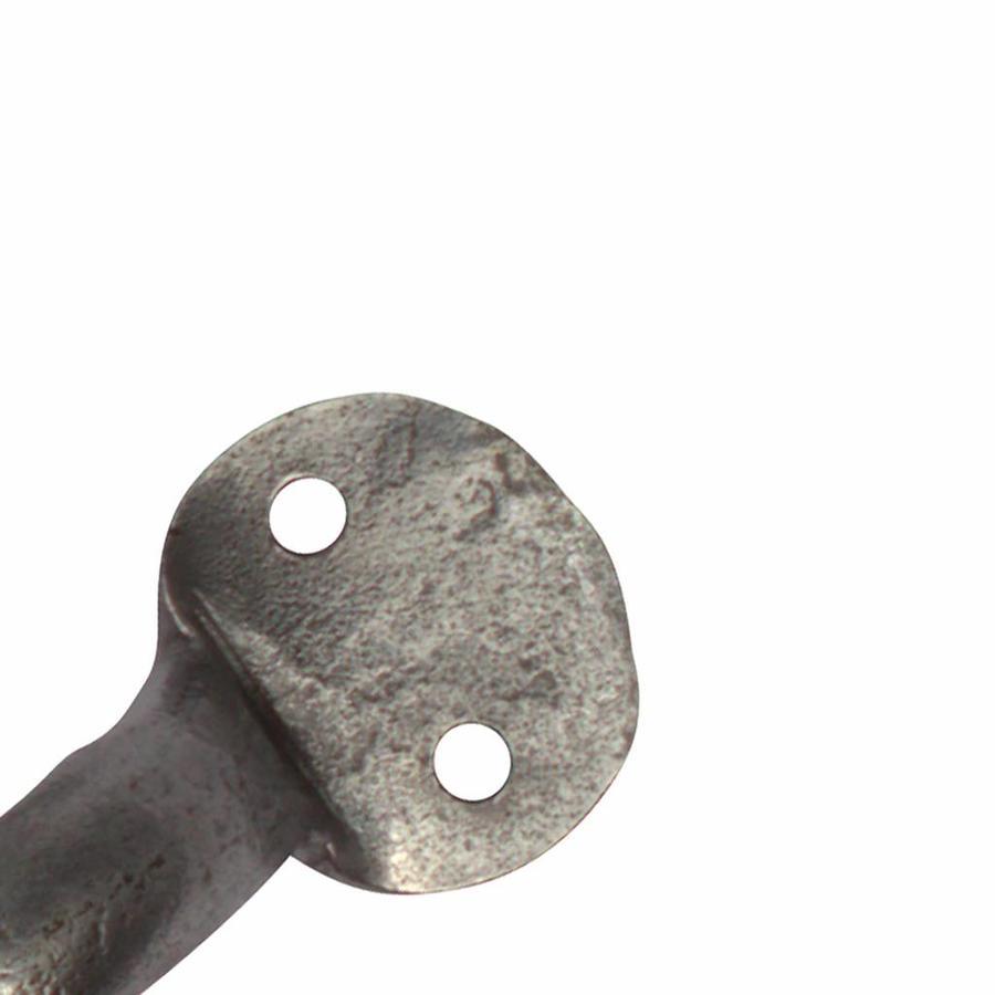 Smeedijzeren handgreep rond 105mm - Pewter