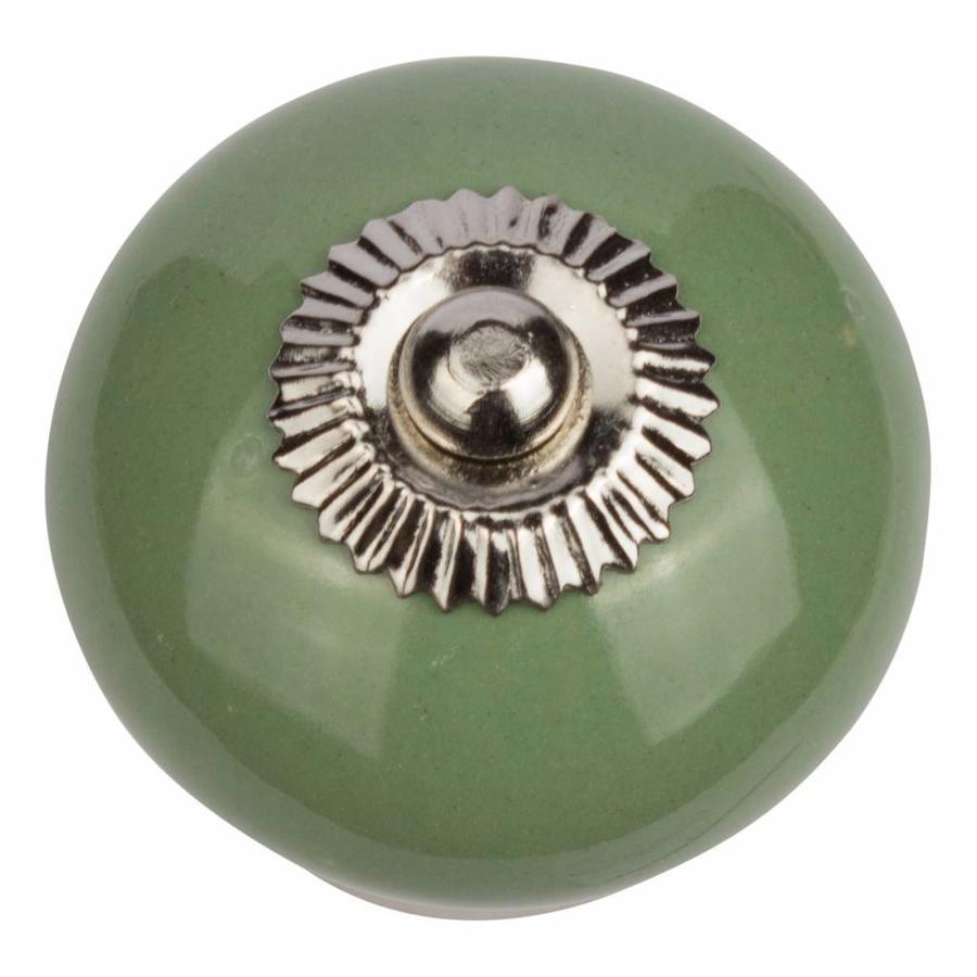 Porseleinen meubelknop groen