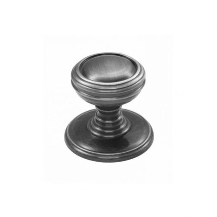 Gietijzeren kastdeurknop 25mm - antiek zwart