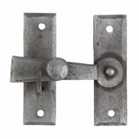 Smeedijzeren deurgrendel voor kast - Pewter finish