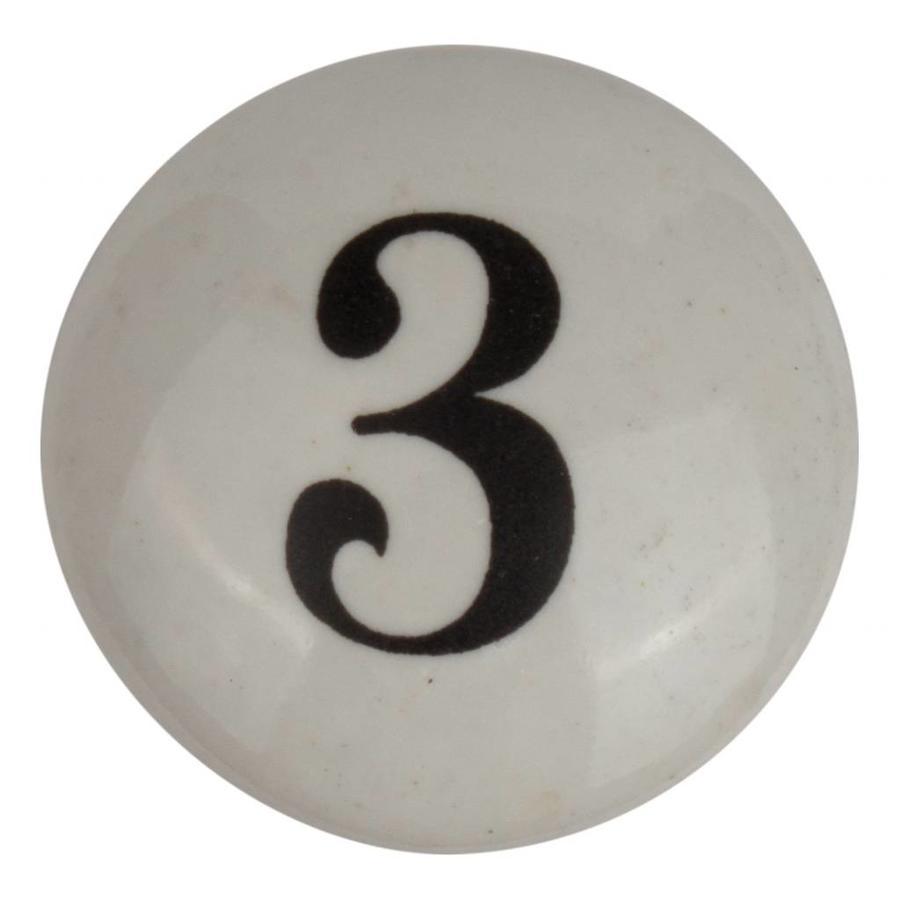Porseleinen meubelknop nummer 3