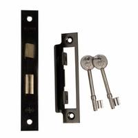 Deurslot met sleutels - zwart