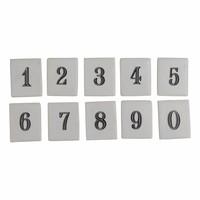Kapstokhaak met cijfer of letter tegeltje