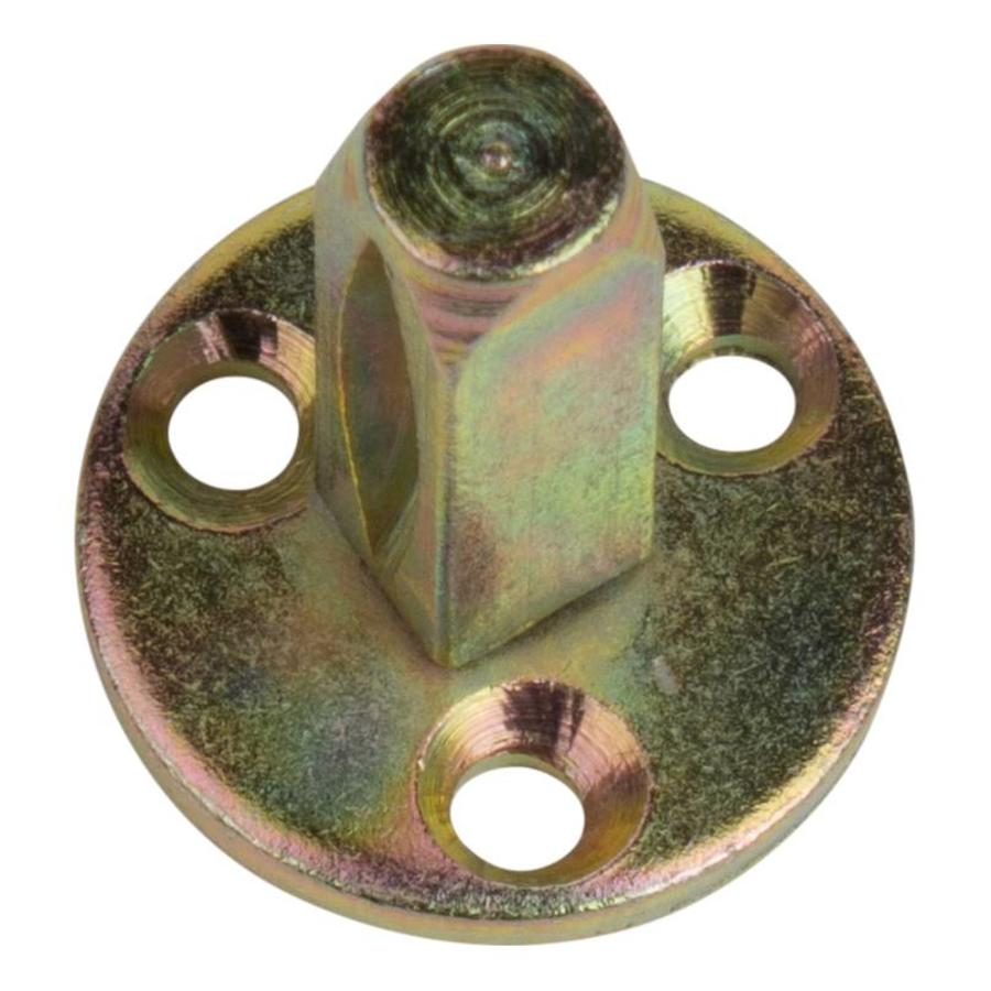 Gietijzeren deurknop rond - Knop & dummy stift