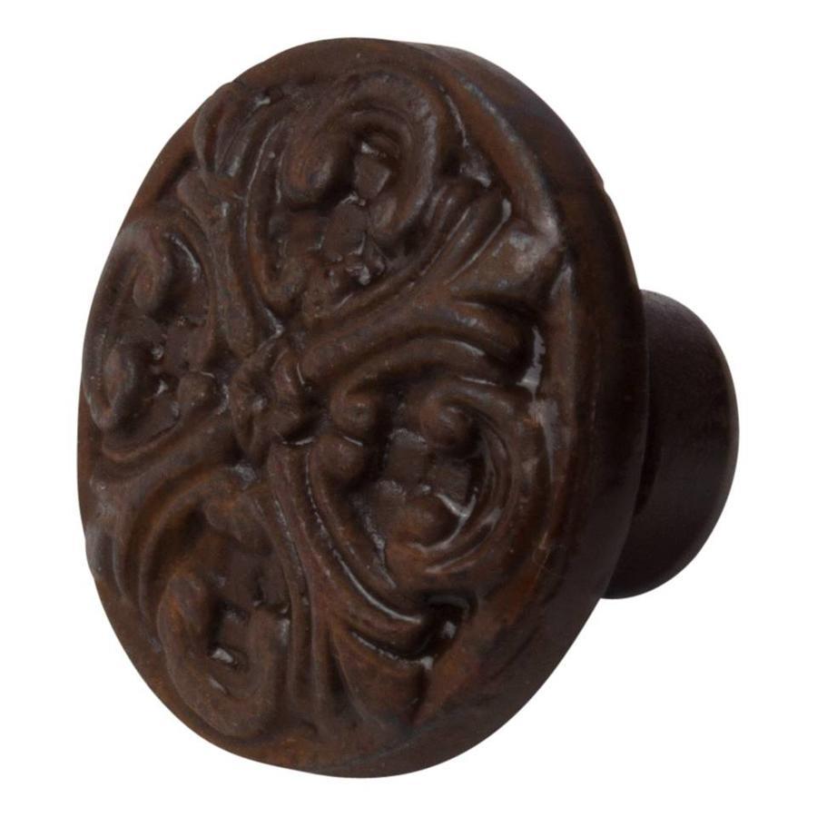 Gietijzeren meubelknop deco Roest - Fleur-de-Lis.