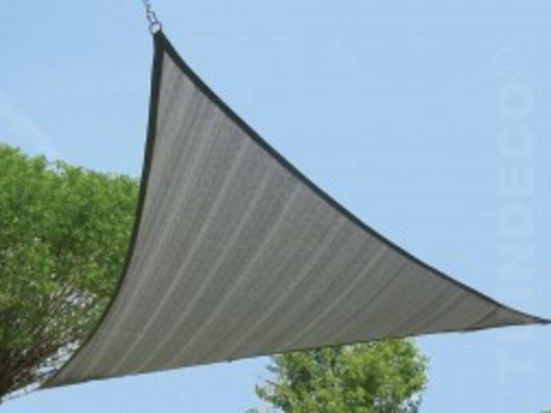 Tuindeco 3-hoek 4.20x4.20cm zilvergrijs
