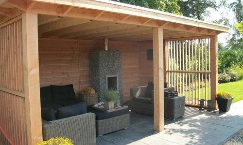 Overkapping Aan Schuur : Maatwerk houtbouw schuur garage veranda overkapping kozijn op