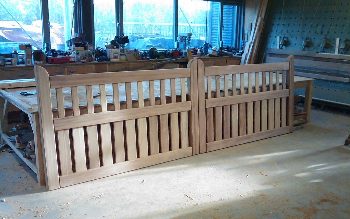Hekwerk Hout Tuin : Douglas houten hekwerk tuinhek op maat laten maken houthandel