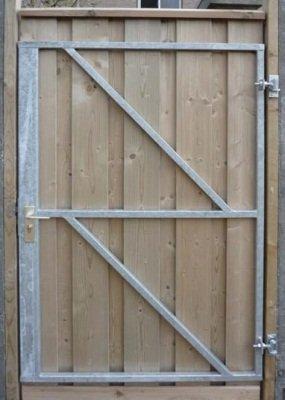 Tuindeur frame met slotkast