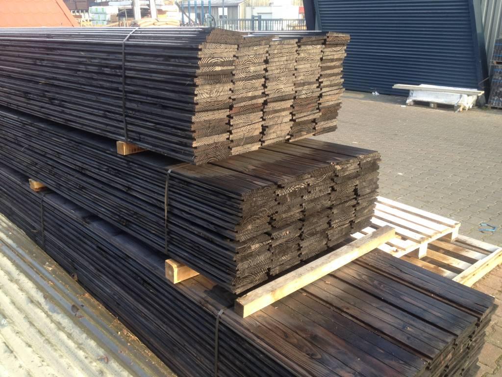 Douglas planken zwart ge mpregneerd zweeds rabat houthandel van gelder - Planken zwarte ...